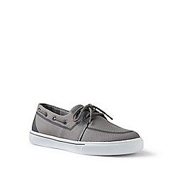 Lands' End - Grey mesh boat shoes