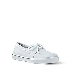Lands' End - White mesh boat shoes