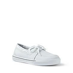 Lands' End - White mesh boat shoes