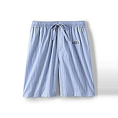 Lands' End - Blue Cotton Pyjama Shorts