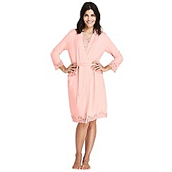 Lands' End - Orange cotton modal dressing gown