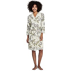 Lands' End - Multi patterned cotton modal dressing gown