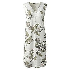 Lands' End - Multi patterned cotton modal sleeveless nightgown