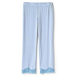 Lands' End - Blue patterned cotton modal pyjama bottoms