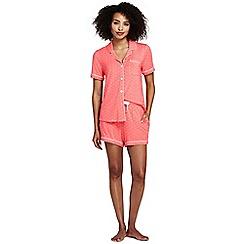 Lands' End - Orange womens modal pyjama shorts set dots