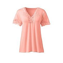 Lands' End - Orange cotton modal pyjama top