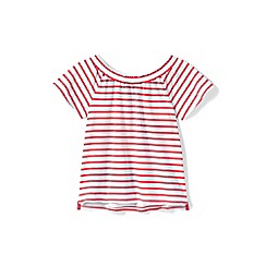 Lands' End - Pink girls' gathered neck top