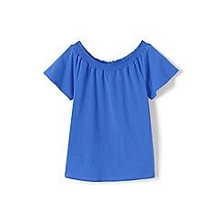 Lands' End - Blue girls' gathered neck top
