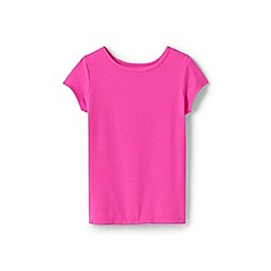 Lands' End - Girls' Pink  cotton blend t-shirt
