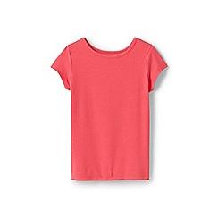 Lands' End - Girls' Red  cotton blend t-shirt
