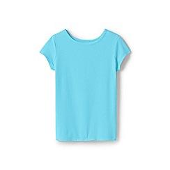 Lands' End - Girls' Blue  cotton blend t-shirt