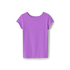 Lands' End - Girls' Purple  cotton blend t-shirt