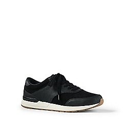 Lands' End - Black leather trainers