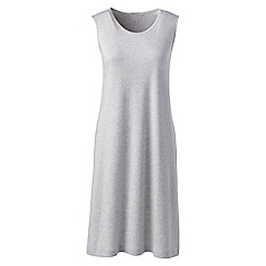 Lands' End - Grey womens supima sleeveless nightdress