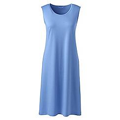 Lands' End - Blue womens supima sleevesless nightdress