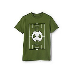 Lands' End - Boys' Green  graphic t-shirt