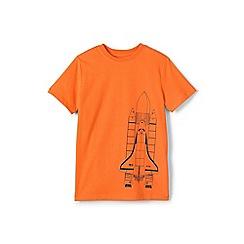 Lands' End - Boys' Blue  graphic t-shirt