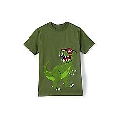 Lands' End - Boys' Green  applique graphic t-shirt