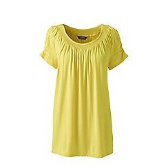 Lands' End - Yellow regular bamboo jersey smock top