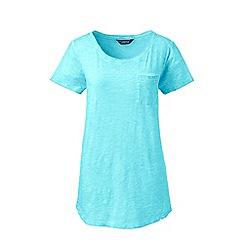 Lands' End - Blue cotton jersey pocket t-shirt