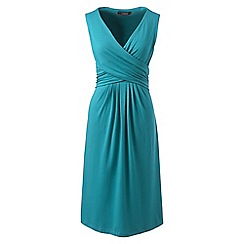 Lands' End - Blue womens sleevesless fit and flare dress
