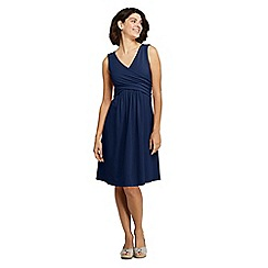 Lands' End - Blue Womens Sleeveless Fit and Flare Dress