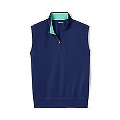 Lands' End - Navy sleeveless pique half-zip top