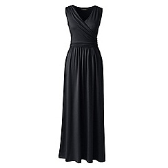 Lands' End - Black wrap maxi dress