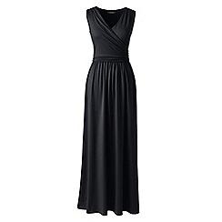 Lands' End - Black wrap maxi dress