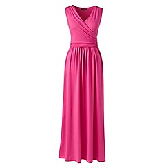 Lands' End - Pink wrap maxi dress