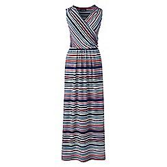 Lands' End - Multi print wrap maxi dress