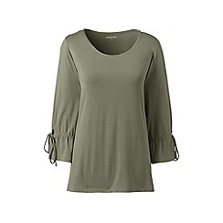 Lands' End - Green bamboo jersey tie-sleeves top