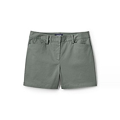 Lands' End - Green Womens Mid Rise Chino Shorts