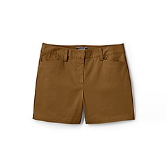 Lands' End - Beige Womens Mid Rise Chino Shorts