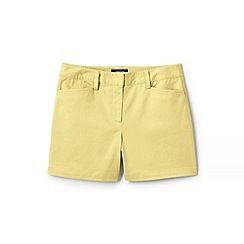 Lands' End - Yellow Womens Mid Rise Chino Shorts
