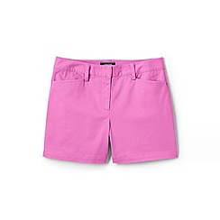 Lands' End - Pink Womens Mid Rise Chino Shorts