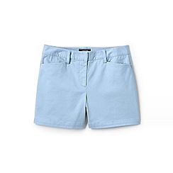 Lands' End - Blue Womens Mid Rise Chino Shorts