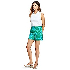 Lands' End - Blue womens 5 inch patterned chino shorts