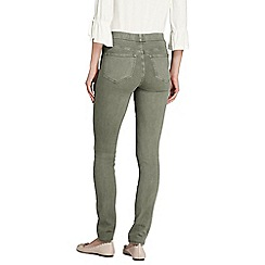 Lands' End - Green womens mid rise pull-on skinny jeans