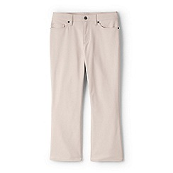 Lands' End - Pink womens mid rise kick cropped trousers