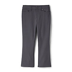 Lands' End - Grey womens mid rise kick cropped trousers