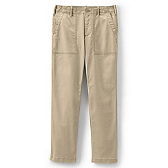 Lands' End - Beige Plus Mid Rise Field Chino Trousers