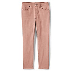 Lands' End - Pink womens mid rise coloured ankle jeans