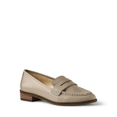 Lands' End - Metallic wide penny loafers