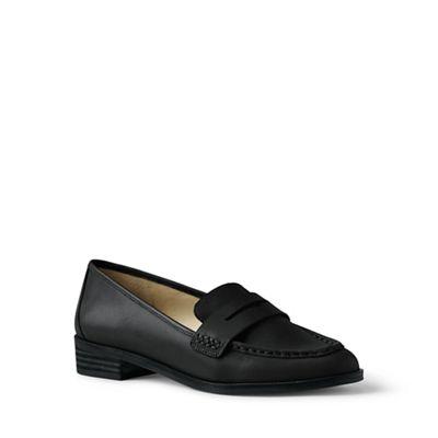 Lands' End - Black Black Black wide penny loafers 5e21f8
