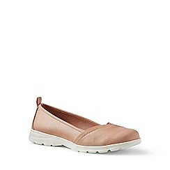 Lands' End - Gold wide alpargata lightweight slip-on shoes