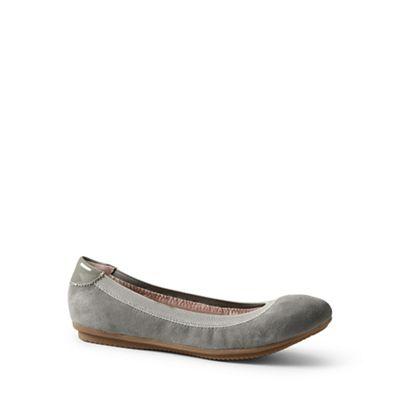 Lands' End - Grey wide comfort ballet pumps