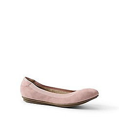 Lands' End - Pink wide comfort ballet pumps
