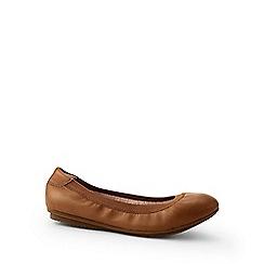 Lands' End - Brown wide comfort ballet pumps