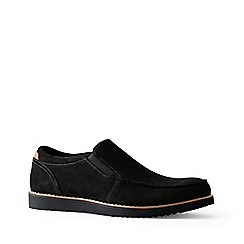 Lands' End - Black wide comfort casual suede loafers